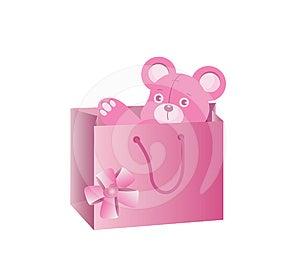 пинк медведя Стоковое Изображение RF - изображение: 24329776