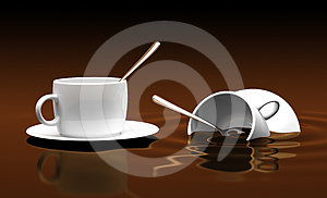Two White Cups Stock Images - Image: 24334474