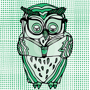 Vivid Illustration Of Owl Stock Photos - Image: 24338683