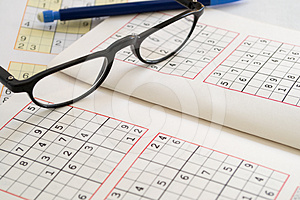 Relax With Sudoku Stock Photo - Image: 24341830