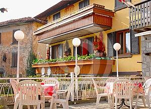 Outside Terrace Of Italian Restaurant Stock Images - Image: 24350184