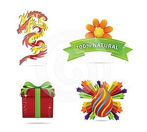 Web And Nature Elegance Symbols Set Stock Photography - Image: 24352902