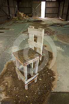 Old Chair In Warehouse Royalty Free Stock Photography - Image: 24364317