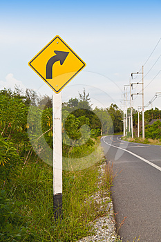 Right  Way Arrow Stock Images - Image: 24366284