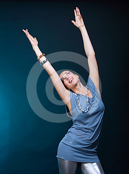 Woman With Art Make Up Disco Stock Photography - Image: 24373982