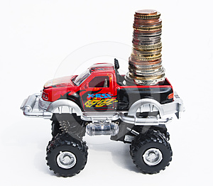 Car With Money Royalty Free Stock Photo - Image: 24381065