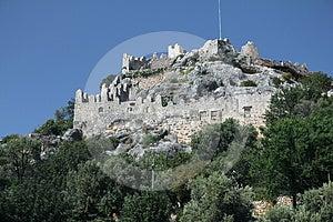 Simena Castle Walls Royalty Free Stock Photos - Image: 24382768