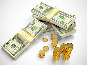 Stack Of Dollars Stock Photo - Image: 24383640