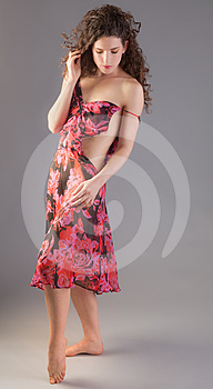 Woman In Dress That's Coming Apart Stock Images - Image: 24384984