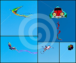 Kites Collage Royalty Free Stock Photos - Image: 24387508