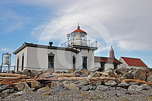 Lighthouse At Discovery Park Stock Photos - Image: 24389163
