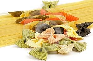 Italian Pasta Spaghetti, Tricolore And Farfalle Stock Photography - Image: 24390382