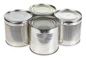 Metal Tins Of Food Stock Photo - Image: 24390470