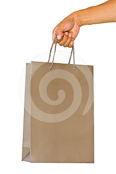 Paper Package In A Hand, Isolated On The White Royalty Free Stock Images - Image: 24394409