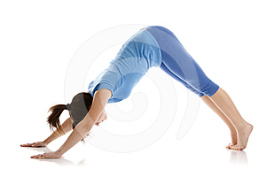 Image Of A Girl Practicing Yoga Stock Photo - Image: 24394700
