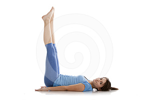 Image Of A Girl Practicing Yoga Stock Images - Image: 24394844
