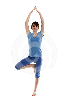 Image Of A Girl Practicing Yoga Royalty Free Stock Photo - Image: 24394955
