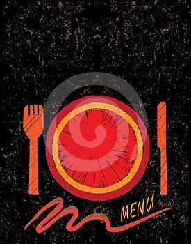 Hand Drawn Restaurant Menu Design Concept Royalty Free Stock Photo - Image: 24395155