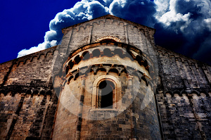 Ancient Church Scenery Stock Photo - Image: 24395450
