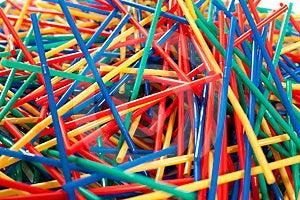 Messy Arragement Of Plastic Straws Stock Image - Image: 24396201