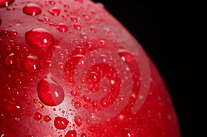 Red Apple Drops Stock Photography - Image: 2440792