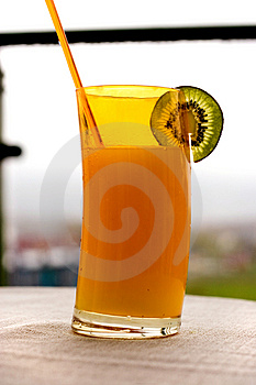 Tropical Drink With Kiwi Stock Image - Image: 2440911