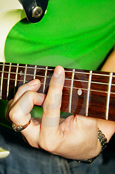 Fingers Of Guitar Player Royalty Free Stock Images - Image: 2444259