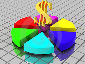 Structure with dollar Stock Images