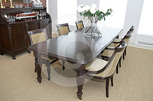 Dining Room Royalty Free Stock Photo - Image: 24401705
