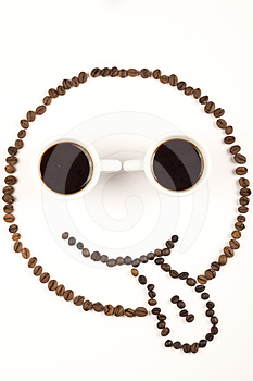 Funny Face From Coffee Stock Photo - Image: 24402540