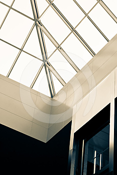 Abstract Atrium Seiling View Royalty Free Stock Photo - Image: 24403035