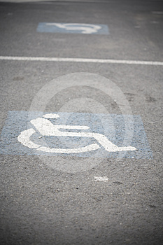 Handicap Sign Stock Photo - Image: 24422970