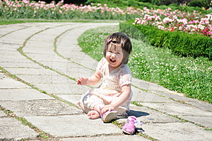 Girl Sitting In Park Stock Photography - Image: 24423232
