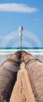 Storm Drain Pipes, Manly Beach Royalty Free Stock Image - Image: 24426926