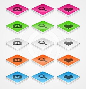 Isometric Icons Stock Images - Image: 24428094