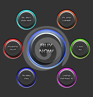Vector Textured Buttons Royalty Free Stock Photography - Image: 24428167