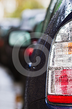 Car Taillight With Raindrops Royalty Free Stock Photography - Image: 24442867