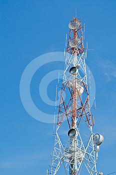 High Tower With Antenna For  Communication Stock Photography - Image: 24443192