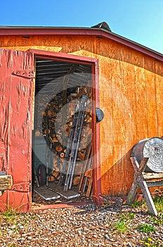 Old Wood Shed Stock Image - Image: 24449271