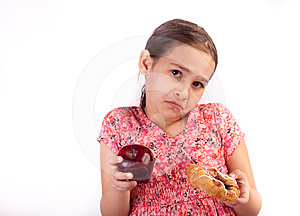 Difficult Healthy Choice Stock Photography - Image: 24450762