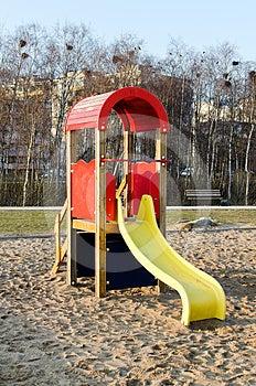 Modern Slide In Park Stock Image - Image: 24452341