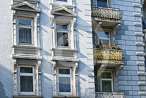 Old Apartment Houses Stock Photo - Image: 24455030