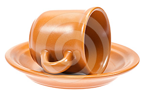 Empty Coffee Cup With Plate Royalty Free Stock Images - Image: 24455749