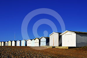 Row Of Beach Huts Royalty Free Stock Images - Image: 24461049