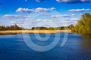 Clouds Reflection On Lake Royalty Free Stock Photos - Image: 24463708