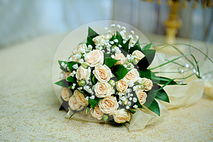 Wedding Bouquet From Roses Royalty Free Stock Photos - Image: 24466528