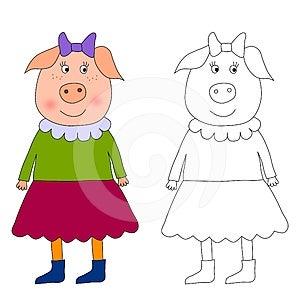Piggy - Coloring Book Stock Photo - Image: 24473980