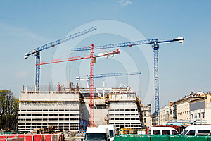 Construction Cranes Royalty Free Stock Photos - Image: 24476968
