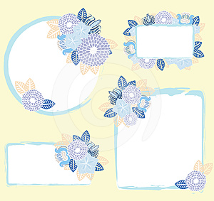 Set Of Frames With Flowers Stock Images - Image: 24477604