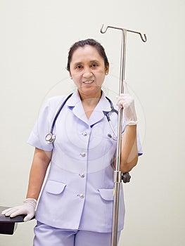 Nurse With I.V Drips Equipment Stock Image - Image: 24480161
